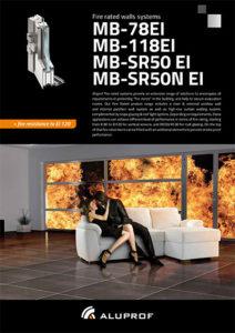Fire rated falls system MB-78EI MB-118EI MB-SR50EI MB-SR50NEI
